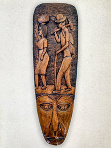 Wood Carvings - Mask with Farmers