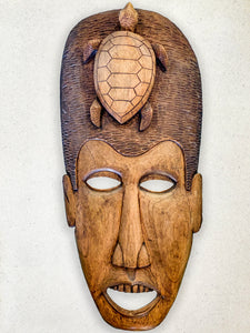 Wood Carvings - Mask with Turtle