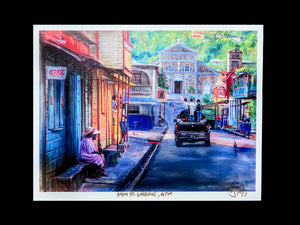 "Painting - 8.5"" x 11"" - High St. Laborie 4pm"