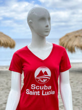 Load image into Gallery viewer, Scuba St Lucia Women's V Neck T-Shirts