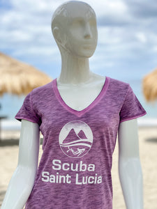 Scuba St Lucia Women's V Neck T-Shirts
