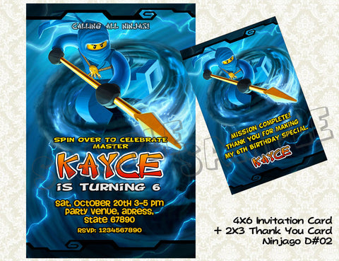 Ninjago Card and Thank You Card - promo combo (Jay)