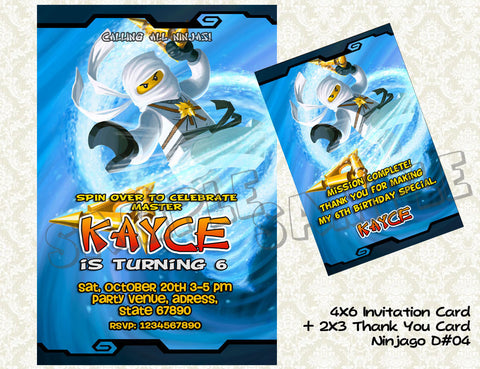 Ninjago Card and Thank You Card - promo combo (Zane)