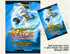 Ninjago Card and Thank You Card - promo combo (Kai)