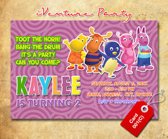 DIY Backyardigans Invitation for Backyardigans Birthday Party - girls party printables