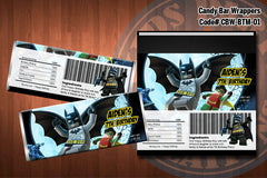 BATMAN Printable Candy Bar Wrappers - for Batman Birthday Party, Superhero Birthday Party