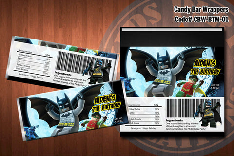 BATMAN Printable Candy Bar Wrappers - for Batman Birthday Party