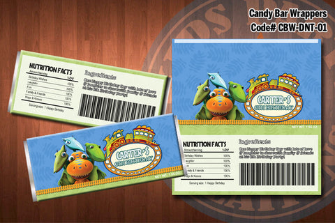 DINOSAUR TRAIN Candy Bar Wrapper #1