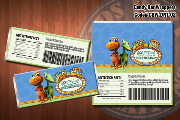 DINOSAUR TRAIN Candy Bar Wrapper #2