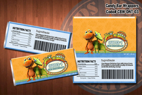 DINOSAUR TRAIN Candy Bar Wrapper #3