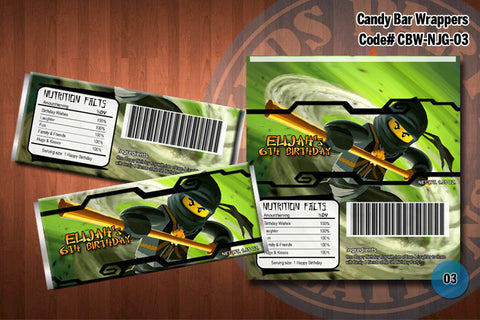 Ninjago Candy Bar Wrapper - Black - Cole
