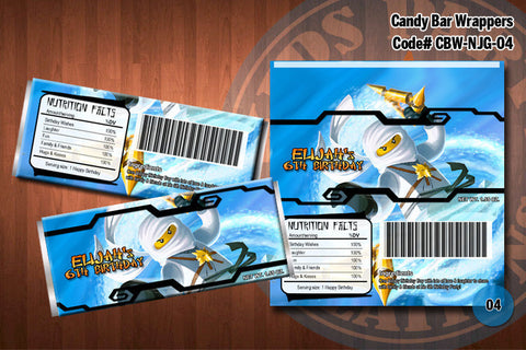 Ninjago Candy Bar Wrapper - White - Zane