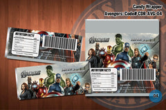 AVENGERS Candy Bar Wrappers - Personalized and printable for Avengers' birthday party