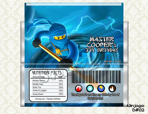 Ninjago - Candy Bar Wrapper (Jay)