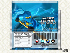 Ninjago - Candy Bar Wrapper (Set of 4 - Kai, Jay, Cole, Zane)
