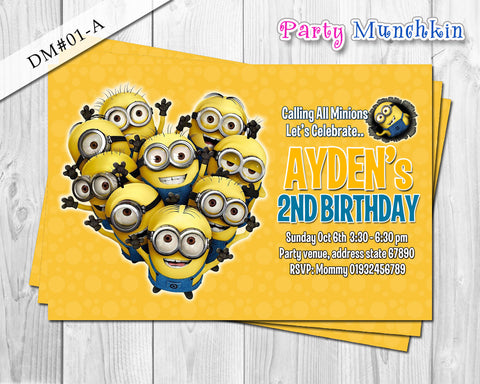 Minion DIGITAL invitation for Minions inspired birthday - DIY (Yellow)