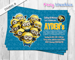 Minion DIGITAL invitation for Minions inspired birthday - DIY (White)