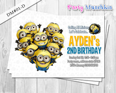 Minion DIGITAL invitation for Minions inspired birthday - DIY (Blue)