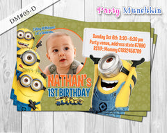 Minion inspired DIGITAL invitation for Minions birthday - DIY (Yellow)