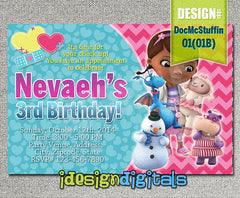 Doc McStuffins Birthday Invitations - Doc McStuffins Birthday Party (6x4 or 7x5)