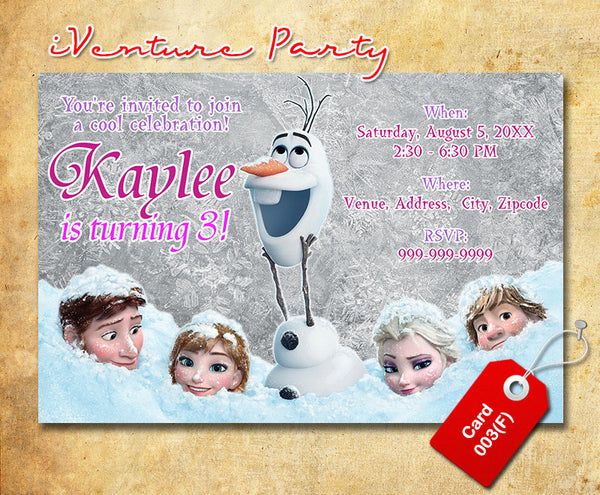 graphic relating to Printable Frozen Invitations named Electronic Frozen birthday photograph Invitation, Frozen printable