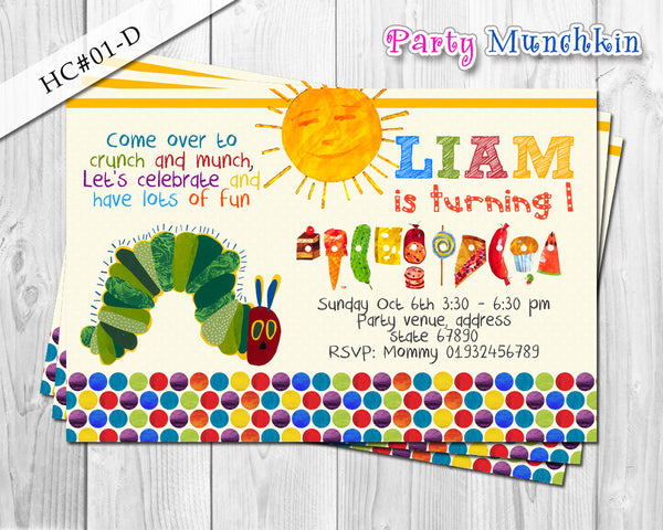 The Hungry Caterpillar Invitations Hungry Caterpillar Invite For