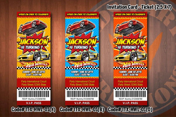 Hot Wheels Ticket Invitation Hot Wheels Invitation