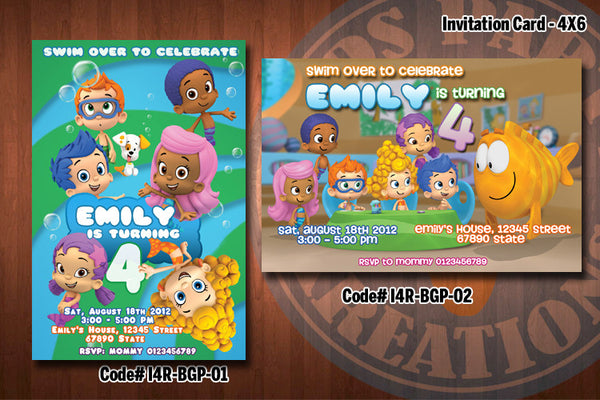 "BUBBLE GUPPIES Invitation - Printable Invitation for Bubble Guppies Birthday Party (4""x6"" or 5""x7"")"