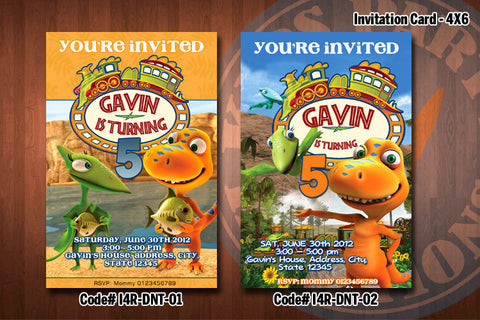 "DINOSAUR TRAIN Invitation - Printable Invitation for Dinosaur Train Birthday Party (4""x6"" or 5""x7"")"