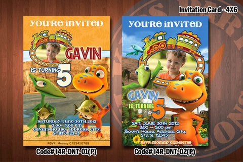 "DINOSAUR TRAIN Photo Invitation - Printable Invitation for Dinosaur Train Birthday Party (4""x6"" or 5""x7"")"