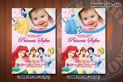 DISNEY PRINCESS Invitation - Printable photo invitation for Disney Princess birthday party