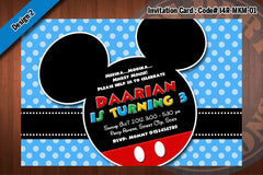 MICKEY MOUSE Birthday Party Invitation  (Choose 1 design) 4x6