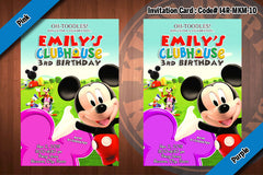 MICKEY MOUSE Invitation, Mickey Mouse Clubhouse Birthday (4x6)