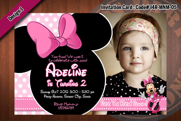 Minnie Mouse Invitations Minnie Mouse Birthday Party