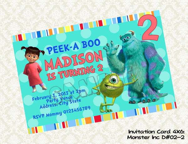 Monsters Inc Invitation Monsters Inc Birthday Party Monsters Inc