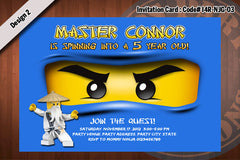 Ninjago Invitation Card D#5 - Green