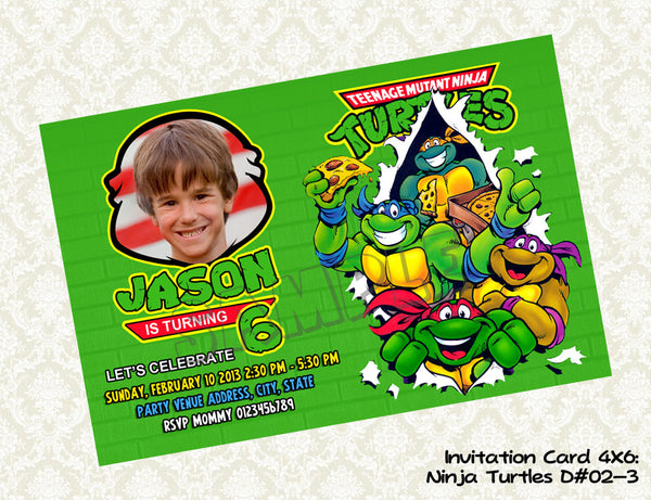 image relating to Ninja Turtles Birthday Invitations Printable called Teenage Mutant Ninja Turtles Birthday Picture Invites