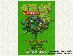 TMNT - Teenage Mutant Ninja Turtles Birthday Invitations- Ninja Turtles Birthday Party - Ninja Turtles printable invite (6x4 or 7x5)
