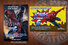 Personalized SPIDERMAN Printable Birthday Party Invitation (4x6 or 5x7) D#1