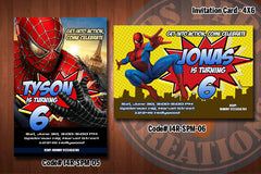 Personalized SPIDERMAN Printable Birthday Party Invitation (4x6 or 5x7) D#2