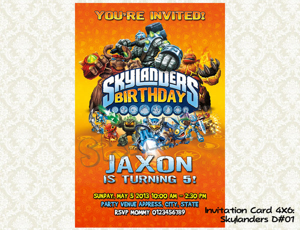 Skylanders Birthday Invitations Skylander Party