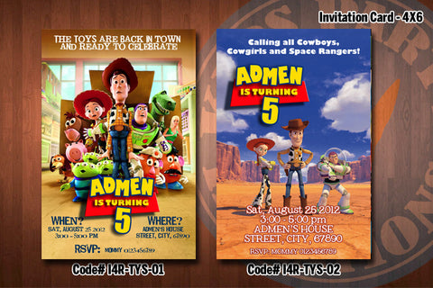 "TOY STORY Invitation - Printable Birthday Invitation for Toy Story Party (4""x6"" or 5""x7"")"