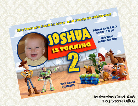 TOY STORY Invitation - Toy Story Birthday Card - Toy Story Party Printable Invitation - photo invitation