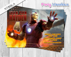 IRONMAN Invitation, Iron Man Personalized Invite for Iron Man Superhero Birthday - DIY PRINTABLE (01-C)