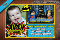 BATMAN Invitation, BATMAN invite, Superhero birthday - Printable Invitation for Batman Birthday Party