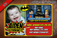 BATMAN Invitation, BATMAN invite, Superhero birthday - Printable Invitation for Batman Birthday Party (Blue)