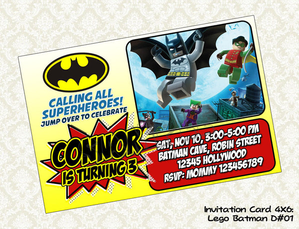 BATMAN Invitation - Batman Birthday Party - Batman printable invite 01