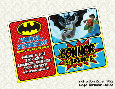 BATMAN Invitation - Batman Birthday Party - Batman printable invite
