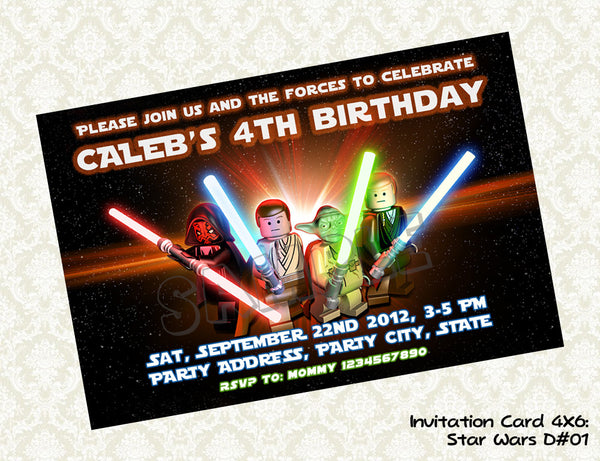 Star Wars Invitation -  Star Wars Birthday party invite - printable and personalized (4x6)
