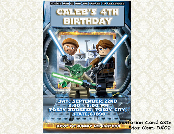 Star Wars Invitation - Birthday party printable (4x6)